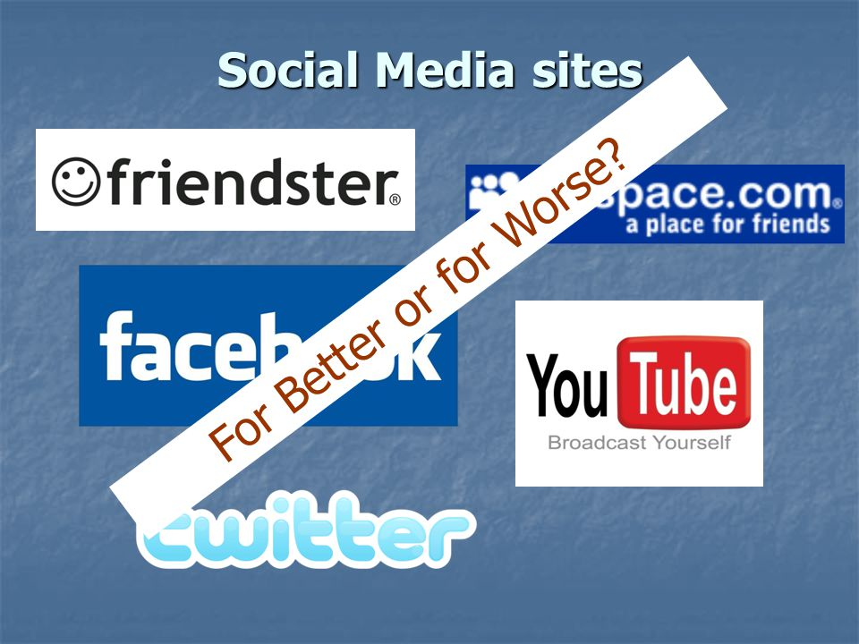 Social Media sites For Better or for Worse?