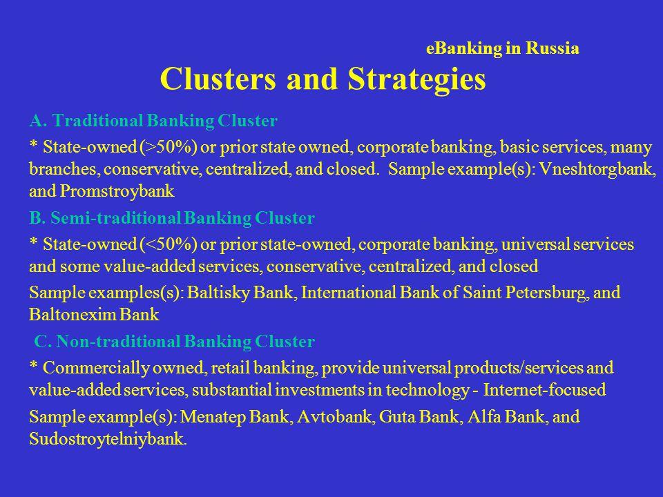 Vneshtorbank: Traditional Cluster Strong and conservative.