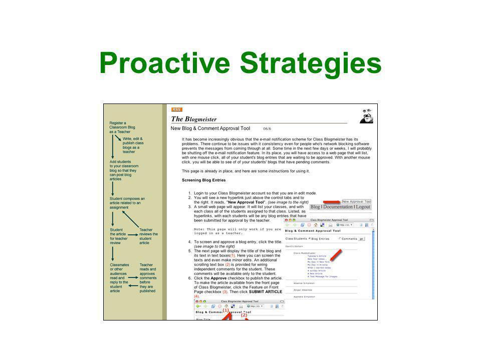 Proactive Strategies