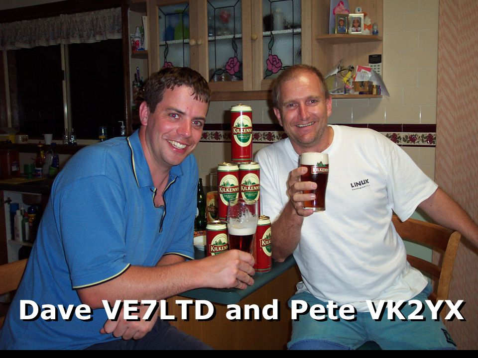 Dave VE7LTD and Pete VK2YX