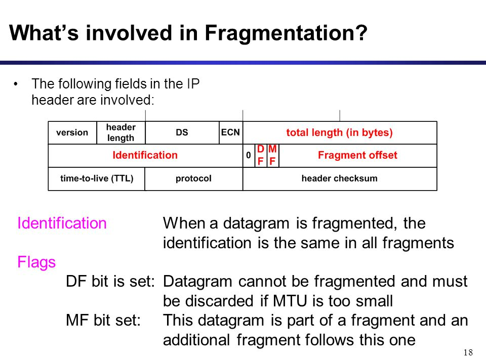 18 Whats involved in Fragmentation.