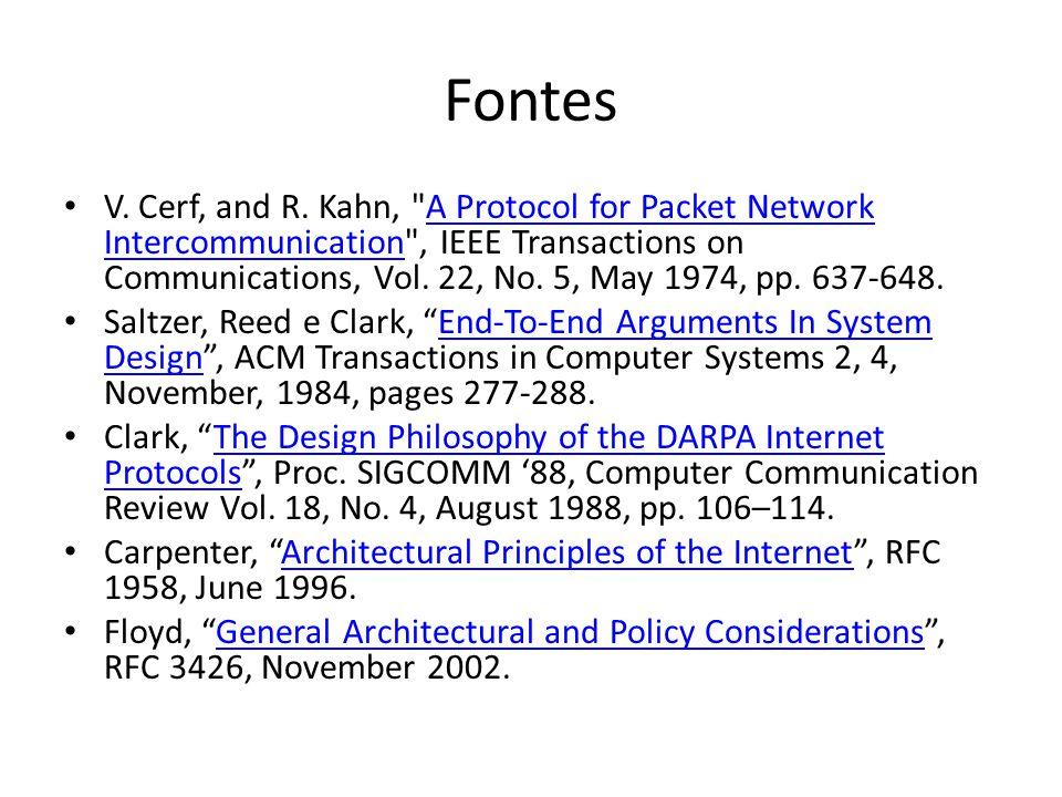 Fontes V. Cerf, and R. Kahn,