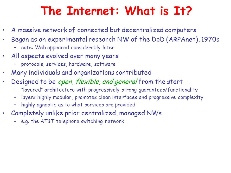 The Internet: What is It.