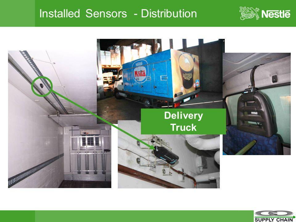 Installed Sensors - Distribution Delivery Truck
