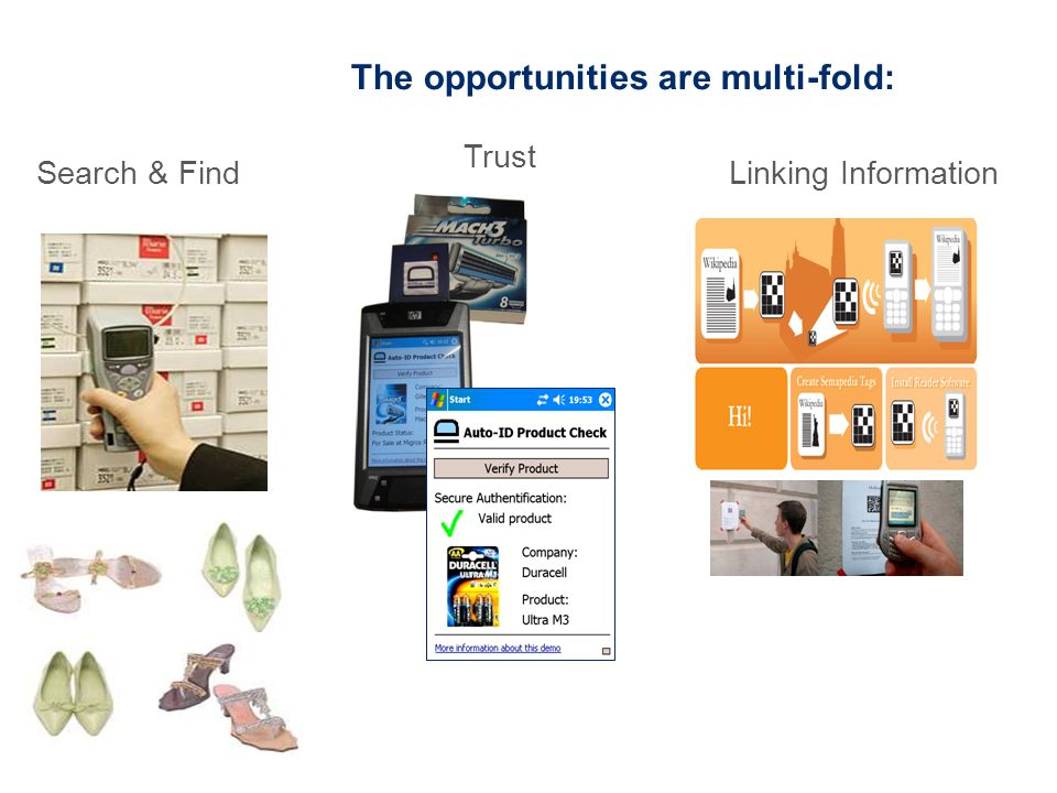 The opportunities are multi-fold: Search & Find Trust Linking Information