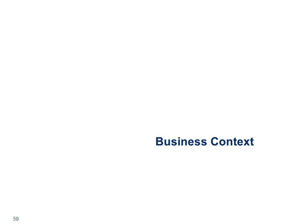 59 Business Context