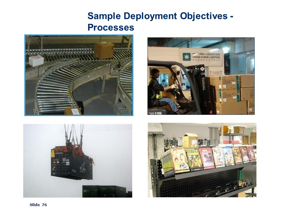 ©2008 GS1 Slide 76 Sample Deployment Objectives - Processes