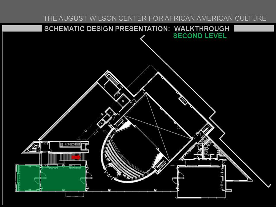 THE AUGUST WILSON CENTER FOR AFRICAN AMERICAN CULTURE SCHEMATIC DESIGN PRESENTATION: WALKTHROUGH SECOND LEVEL