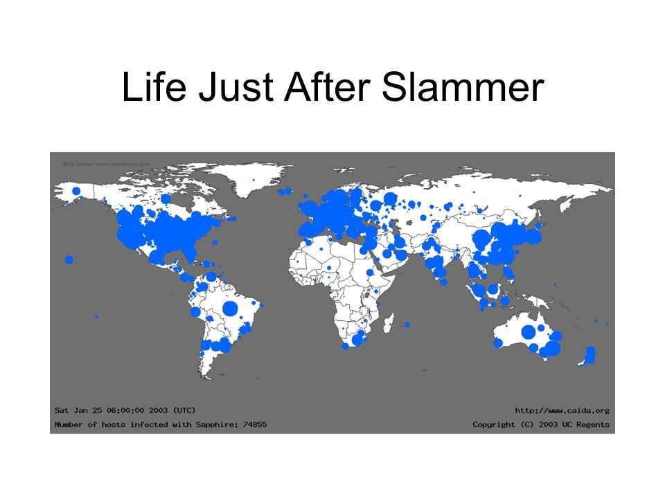 Life Just After Slammer