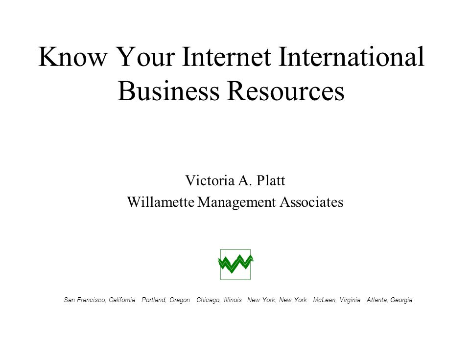 Know Your Internet International Business Resources Tool Selection Meta Page Selection IBRC MSU-CIBER VIBES WebEc Meta Page Selection IBRC MSU-CIBER VIBES WebEc Willamette Management Associates