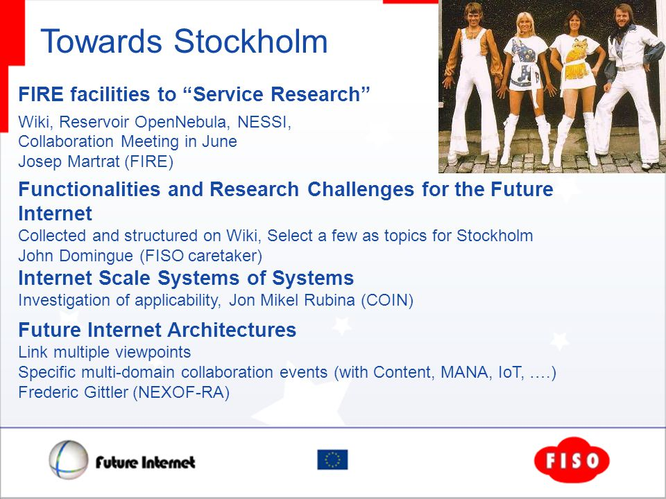 Towards Stockholm FIRE facilities to Service Research Wiki, Reservoir OpenNebula, NESSI, Collaboration Meeting in June Josep Martrat (FIRE) Functional