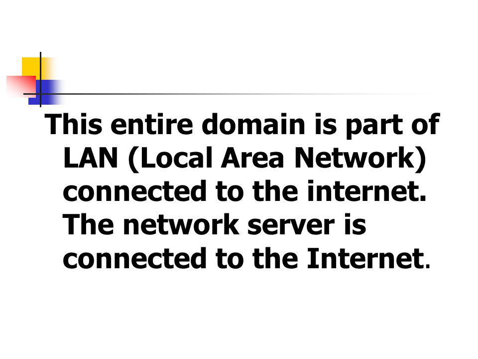 This entire domain is part of LAN (Local Area Network) connected to the internet.