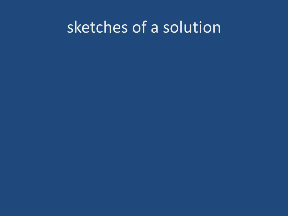sketches of a solution