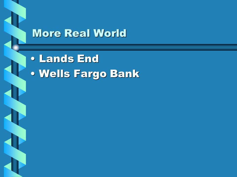 More Real World Lands EndLands End Wells Fargo BankWells Fargo Bank