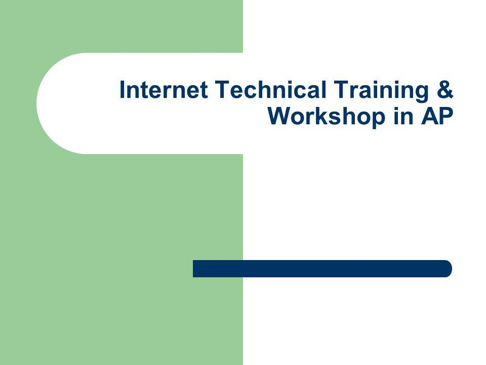 Internet Technical Training & Workshop in AP