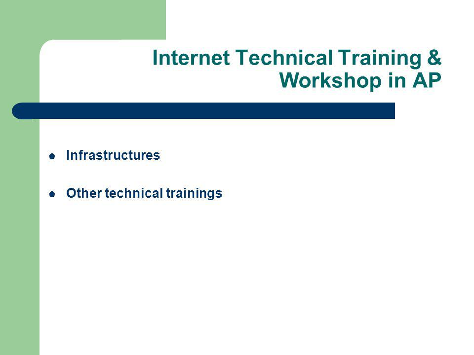 Infrastructures Other technical trainings