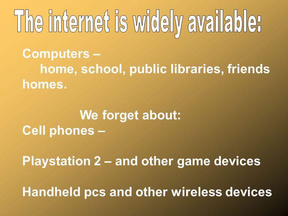 Internet Predators: *Befriend them – find their interests and lie about common interests.