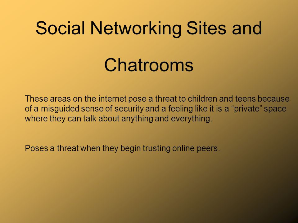 Use monitoring and restricting software: Monitoring: Internet Referee, NetNanny, CyberPatrol Restricting: Adult Content filtering through ISP, Internet Explorers Content Advisor www.myspaceforparents.com