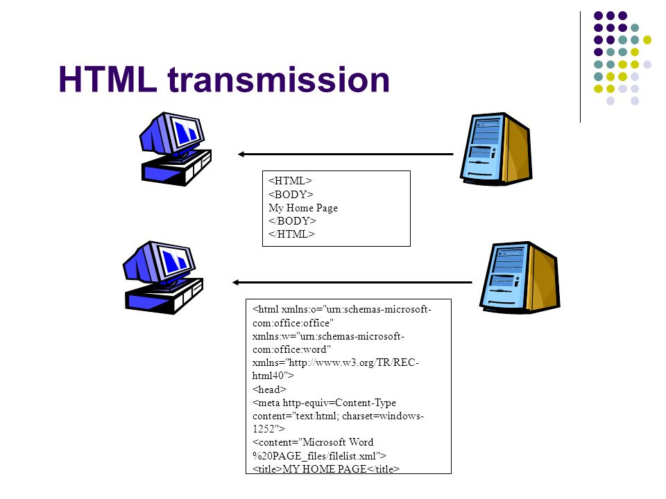 HTML transmission <html xmlns:o= urn:schemas-microsoft- com:office:office xmlns:w= urn:schemas-microsoft- com:office:word xmlns= http://www.w3.org/TR/REC- html40 > MY HOME PAGE My Home Page