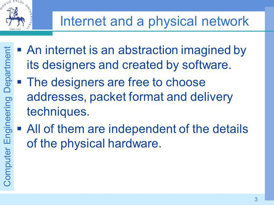 Computer Engineering Department 14 Defining IP Address classes The first four bits of an address determine the class to which the address belongs.