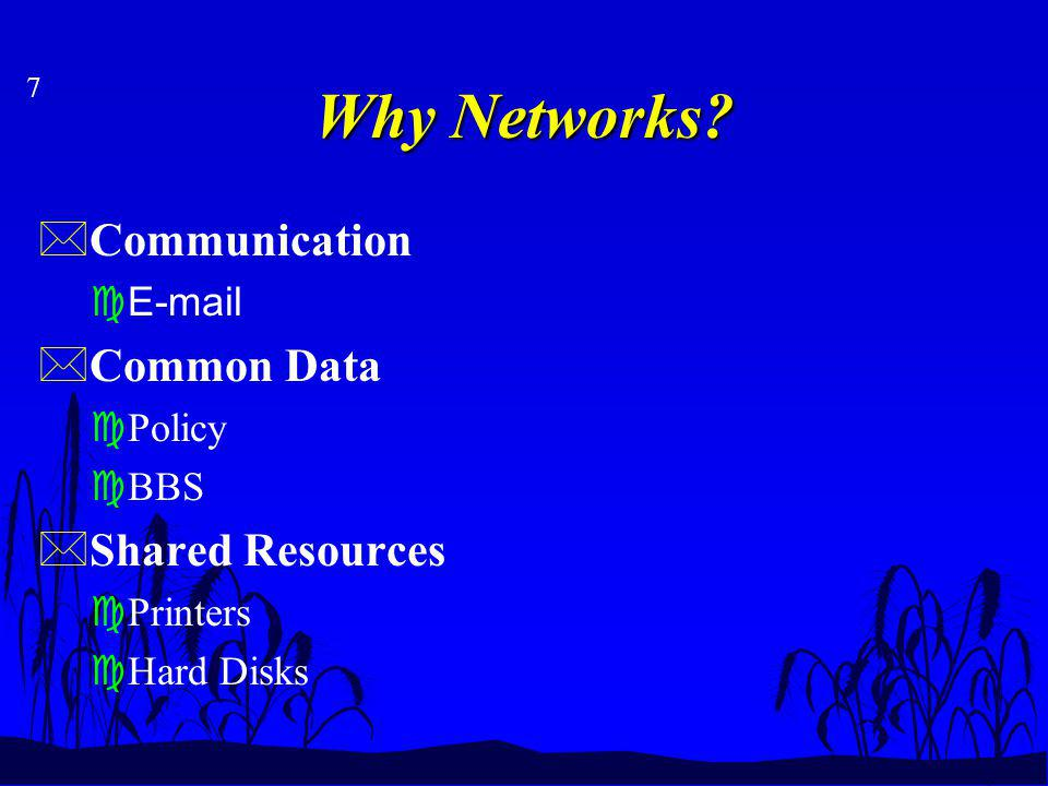 7 Why Networks.