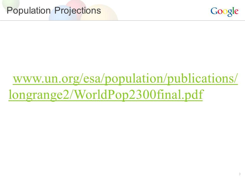 3 Population Projections www.un.org/esa/population/publications/ longrange2/WorldPop2300final.pdf