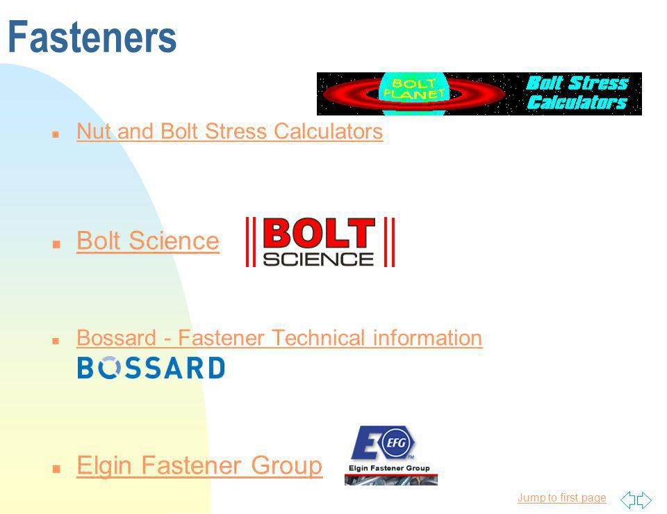 Jump to first page Fasteners n Nut and Bolt Stress Calculators Nut and Bolt Stress Calculators n Bolt Science Bolt Science n Bossard - Fastener Techni