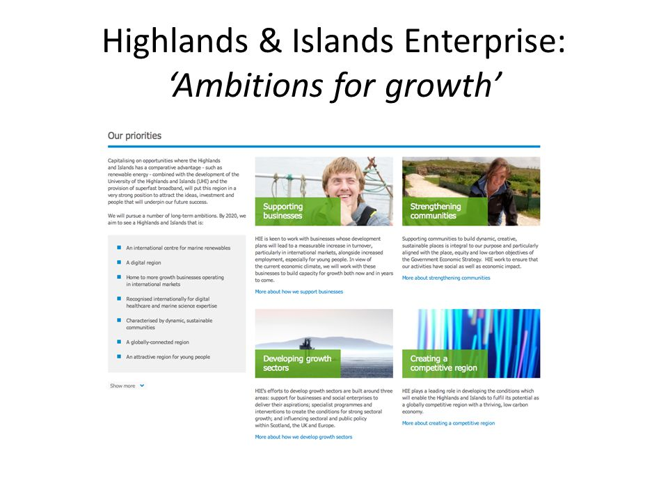 Highlands & Islands Enterprise: Ambitions for growth