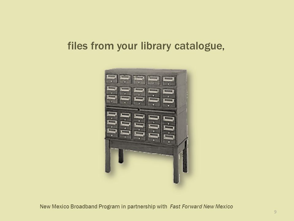 New Mexico Broadband Program in partnership with Fast Forward New Mexico 9 files from your library catalogue,