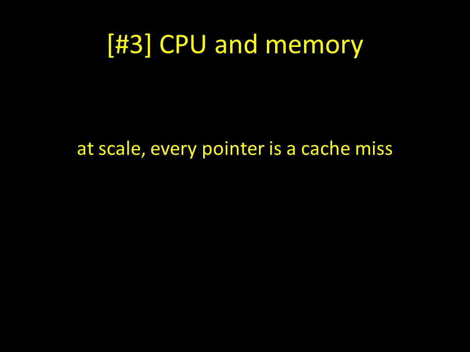[#3] CPU and memory at scale, every pointer is a cache miss