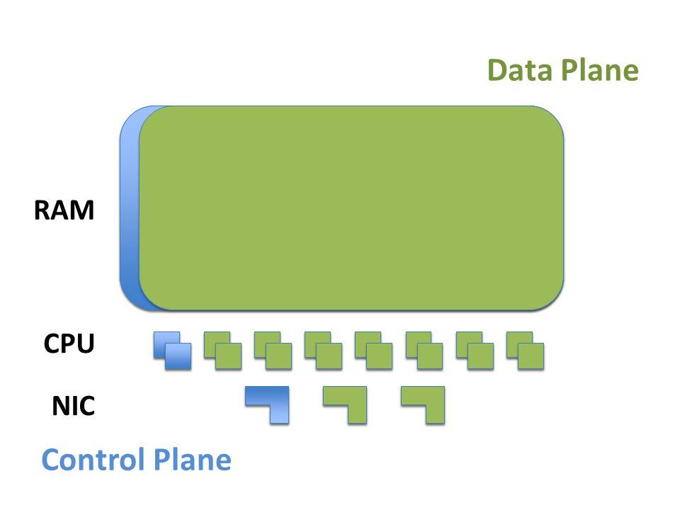 Control Plane Data Plane RAM CPU NIC