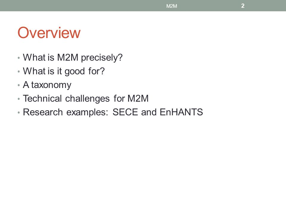 What is M2M.