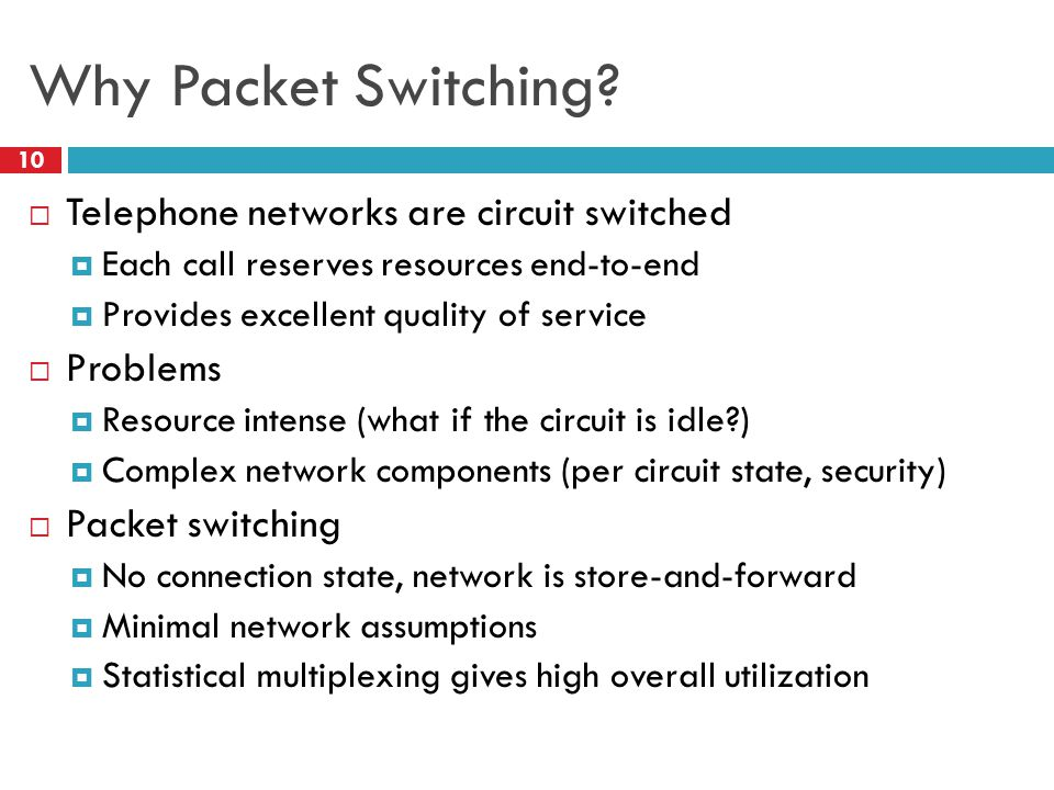 Why Packet Switching.
