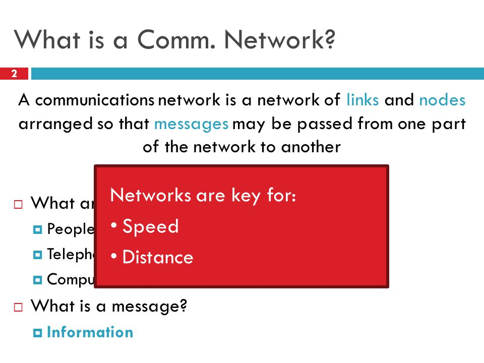 What is a Comm. Network.