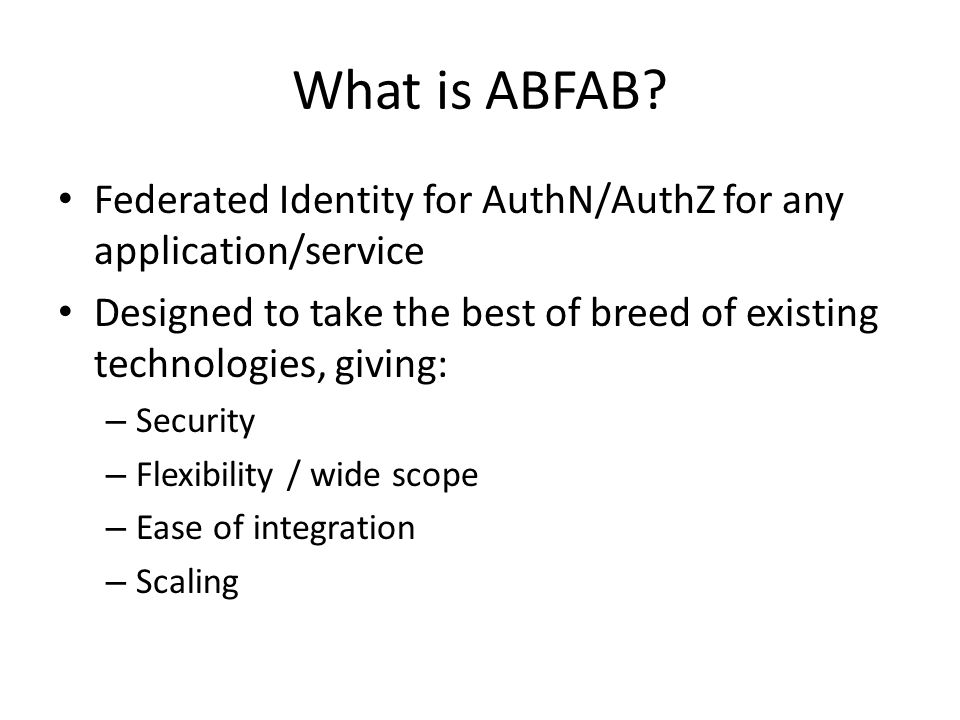 What is ABFAB.