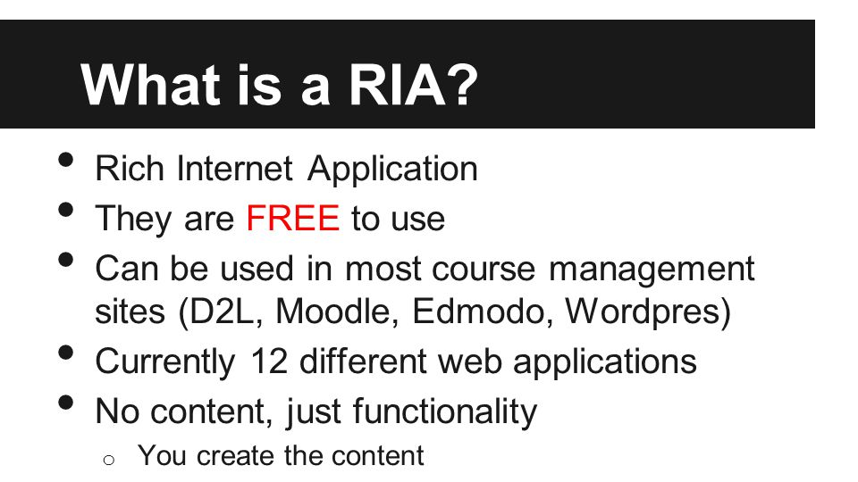 What is a RIA.