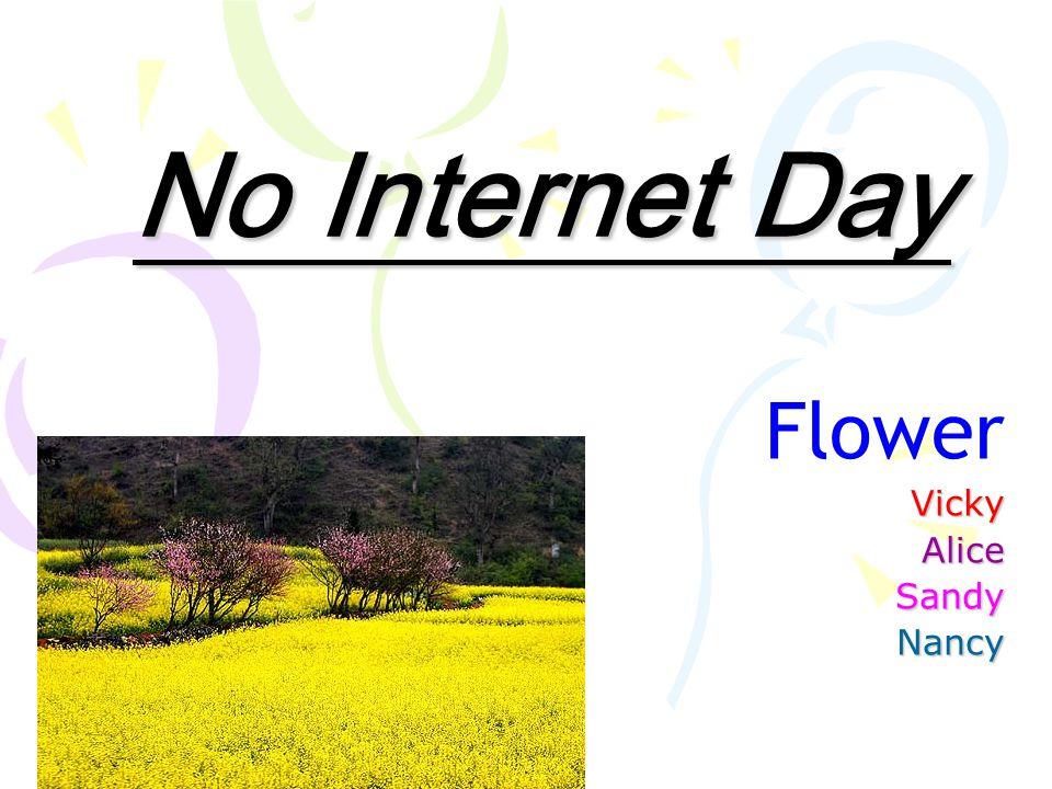 No Internet Day FlowerVickyAliceSandyNancy