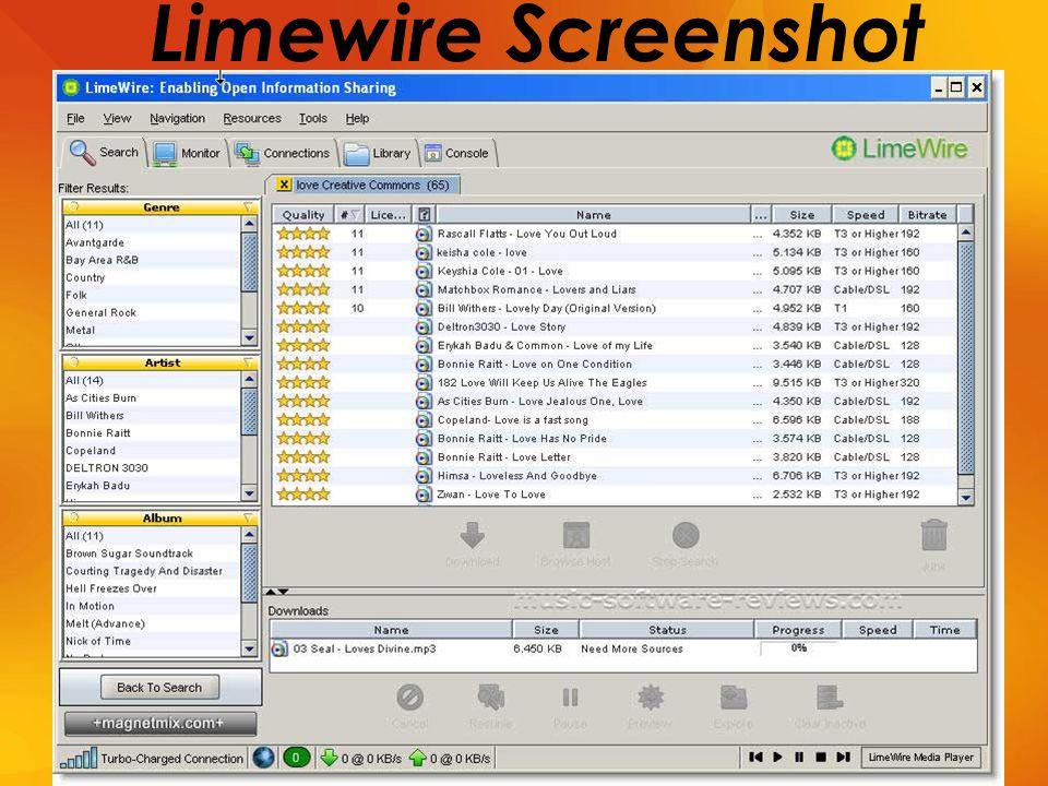 Limewire Screenshot