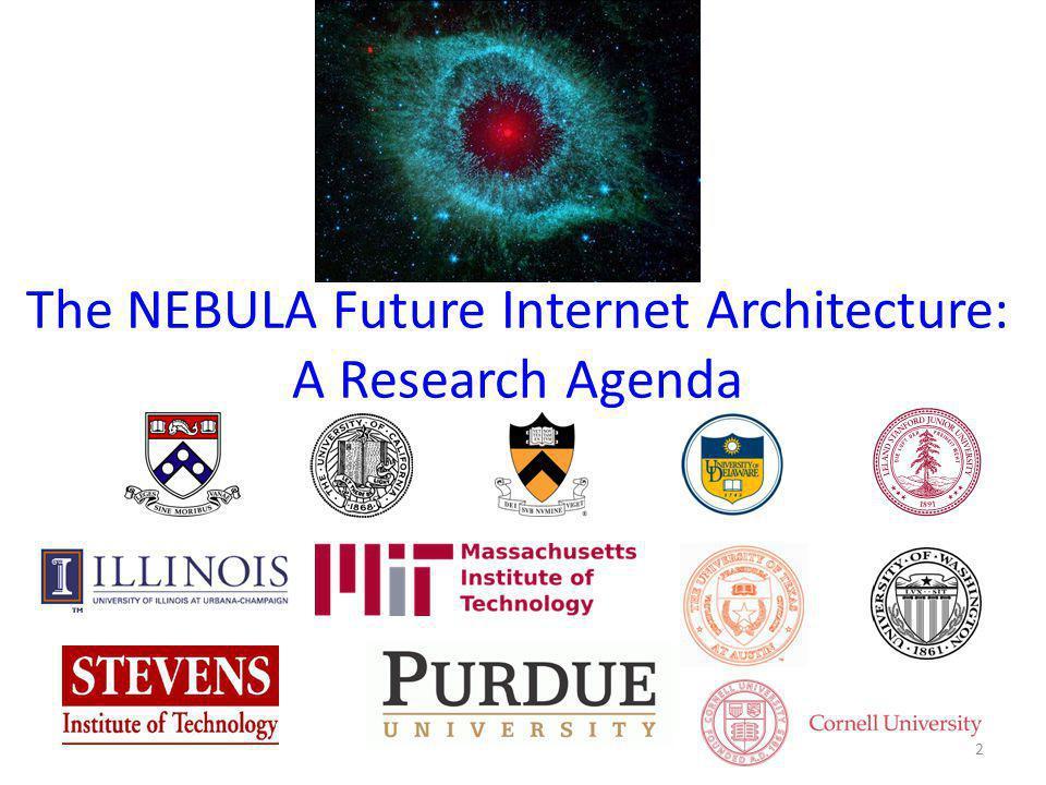 The NEBULA Future Internet Architecture: A Research Agenda 2