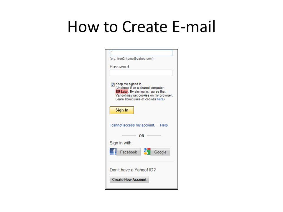How to Create E-mail
