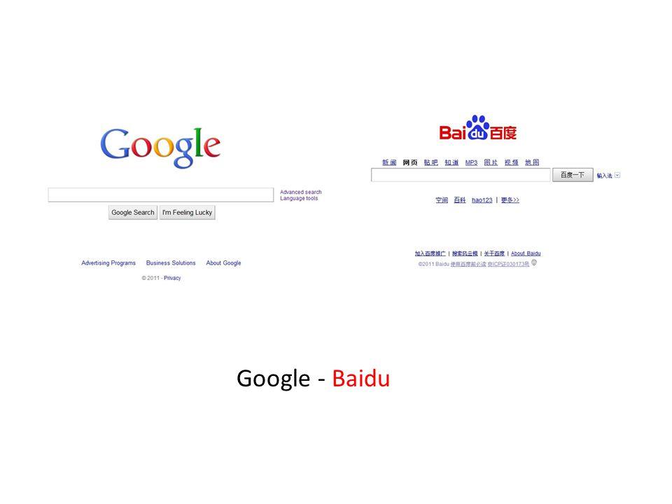 Google - Baidu