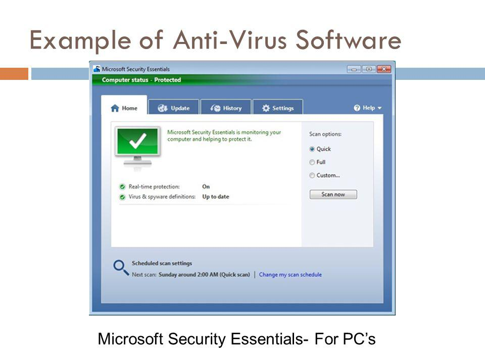 Microsoft Security Essentials- For PCs