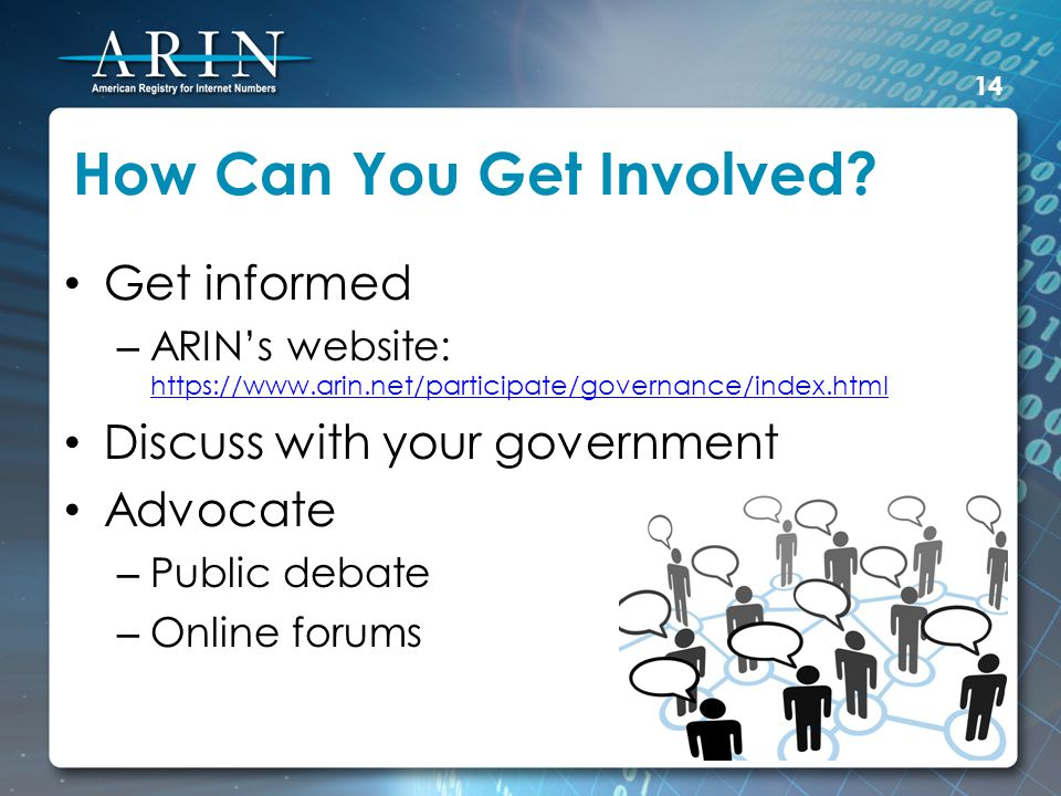 How Can You Get Involved.