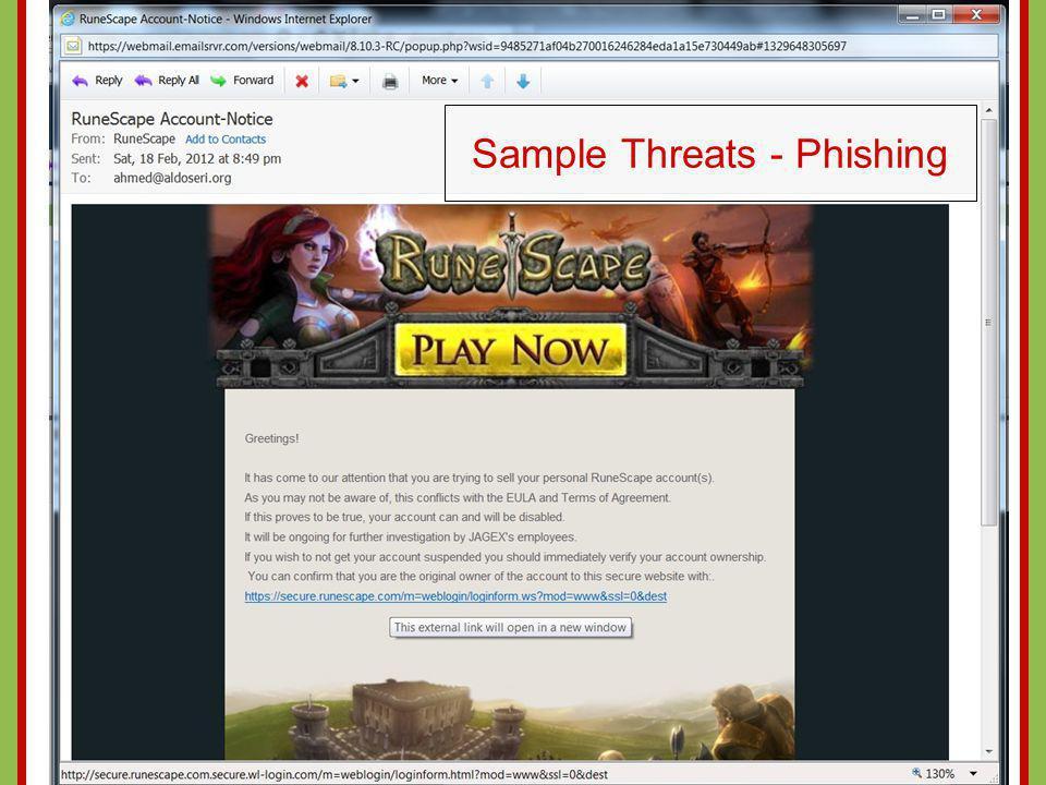 Sample Threats - Phishing