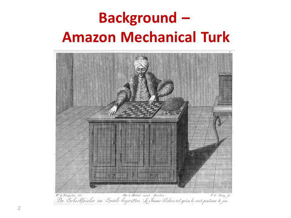 Background – Amazon Mechanical Turk 2