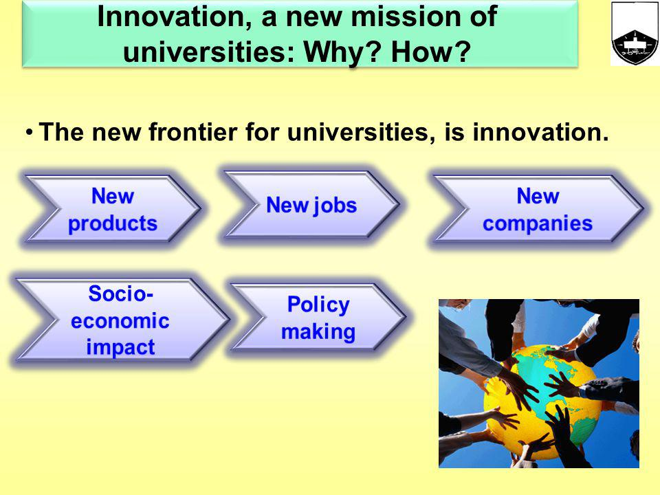 Creating Innovation appling transferring preserving integrating Knowledge University Mission ! Knowledge server Knowledge server OR
