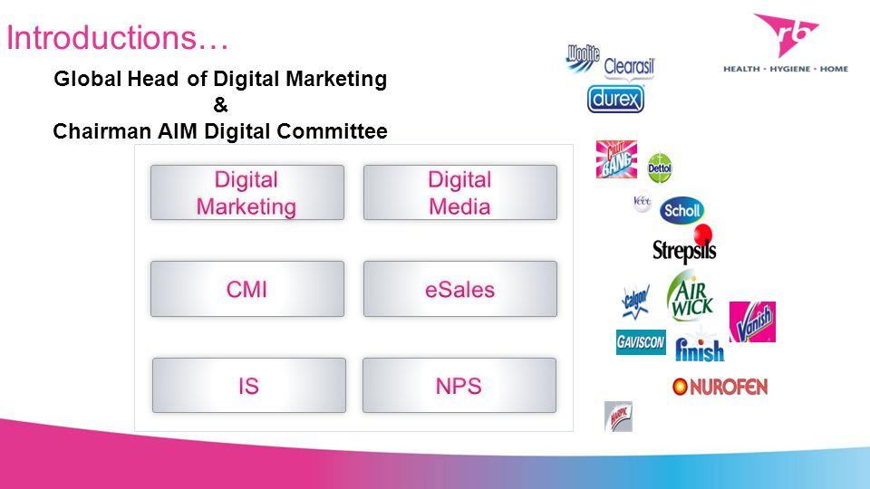 Introductions… Global Head of Digital Marketing & Chairman AIM Digital Committee