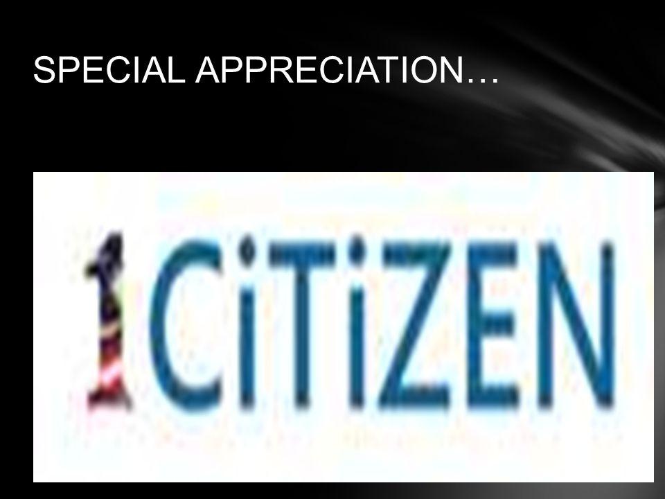 SPECIAL APPRECIATION…