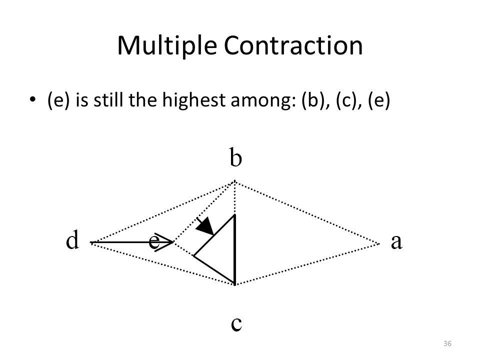 Multiple Contraction (e) is still the highest among: (b), (c), (e) 36