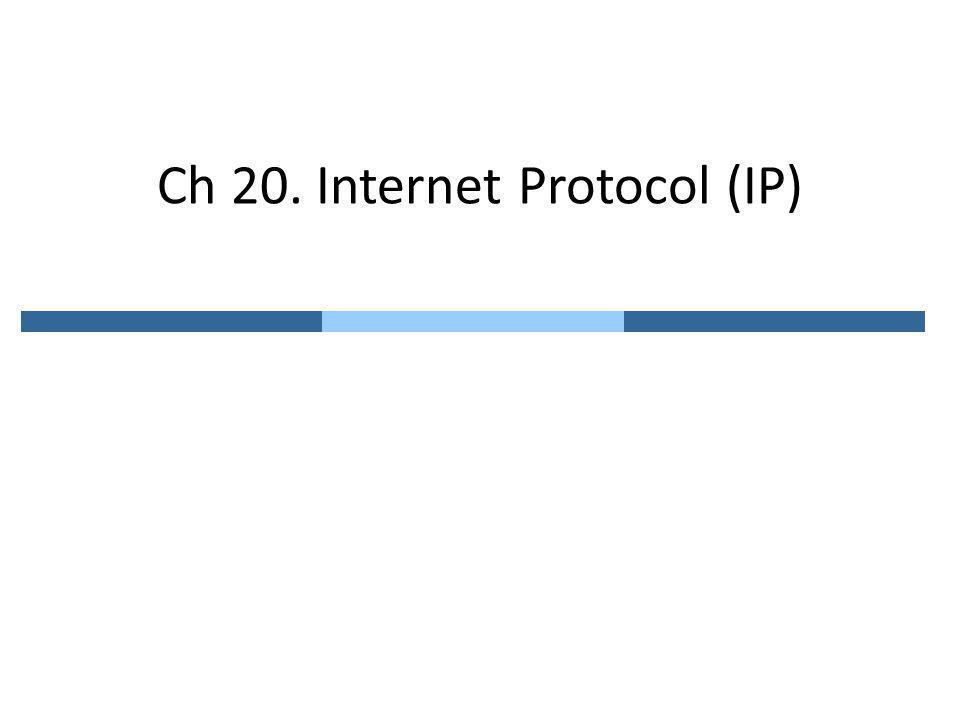 Ch 20. Internet Protocol (IP)